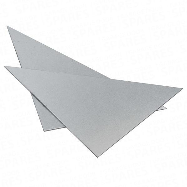Pair of 6″ x 6″ triangular corner plates